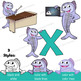 X-ray Fish Clip Art with Signs - Letter X in Alphabet Anim