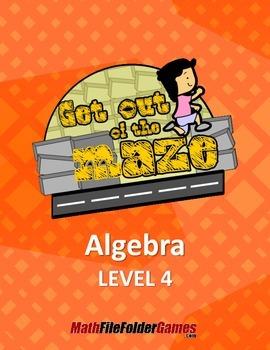 X's on both sides - Algebra  Maze/Worksheets