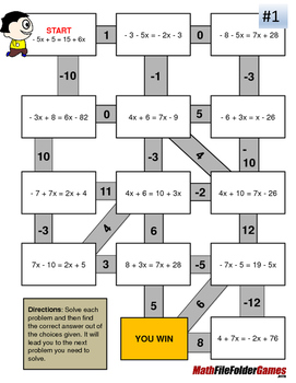 X's on both sides (Fun Mazes/Worksheets)