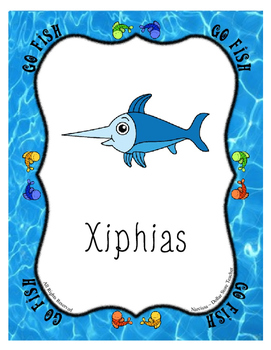 X-tra Xciting :)  Letter X Go Fish Card Game ~ 'X'cellent Supplement