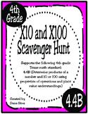 X10 and X100 Scavenger Hunt (TEKS 4.4B) STAAR Practice