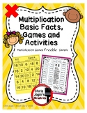 X2 Multiplication Basic Facts Games FREEBIE