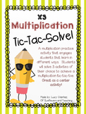 X3 Multiplication Tic-Tac-Solve - NO PREP center activity!