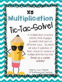 X5 Multiplication Tic-Tac-Solve - NO PREP center activity!