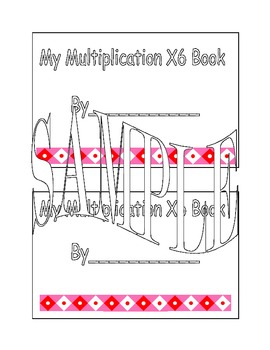 X6 Multiplication Book