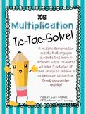 X6 Multiplication Tic-Tac-Solve - NO PREP center activity!