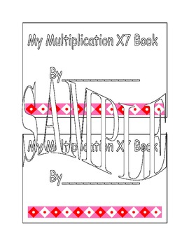 X7 Multiplication Book