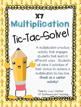 X7 Multiplication Tic-Tac-Solve - FREEBIE!