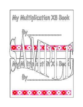 X8 Multiplication Book