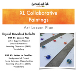 XL Collaborative Paintings - Art, Team Building, Bulletin Board Backgrounds