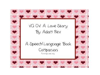 XO, OX A love story Speech and Language Book Companion
