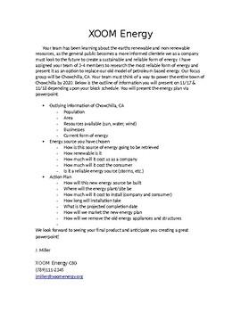 XOOM Energy Letter