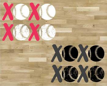 XOXO Baseball Tackle Svg Play Love Tackle valentine's day ball svg 1175S