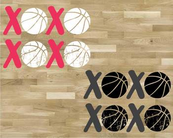 XOXO Basketball Tackle Svg Play Christmas Tackle Love valentine's day 1172S
