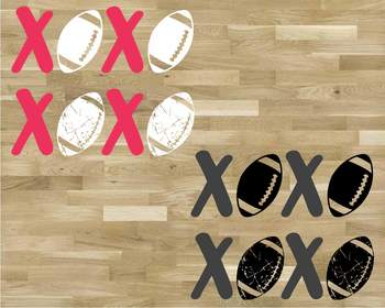 XOXO Football svg sweater Christmas shirt hat tackle Love valentine's day 1173S