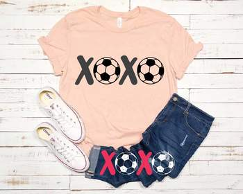XOXO Soccer Tackle Svg Soccerball Play Love  Tackle valentine's day 1174s