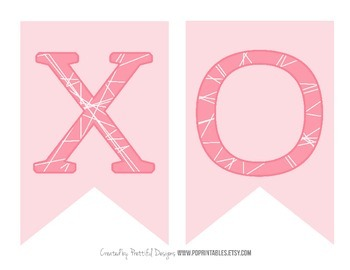 XOXO Valentines Day Printable Banner