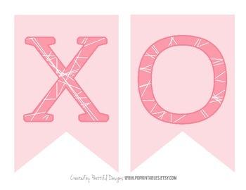 XOXO Valentines Day Printable Banner