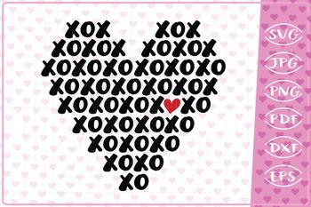 Xoxoxo Heart Love Quote Cutting File Valentine Svg By Cute Graphic