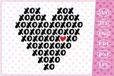 XOXOXO Heart, Love Quote, Cutting File,Valentine SVG