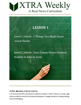 XTRA Weekly Lesson 1 (17 September 2018), Grades 3 to 8