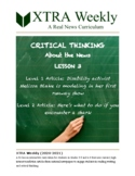 XTRA Weekly Lesson 3 (28 September 2020), Grades 3-5 and 6-8