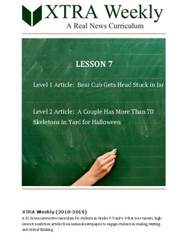 XTRA Weekly Lesson 7 (29 October 2018), Grades 3 to 8