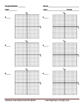 XY-Graph Paper Masters