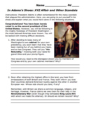 """XYZ Affair & Adams's Scandals: """"What Would You Do?"""" Simula"""