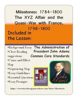 XYZ Affair ~ Presidency of John Adams