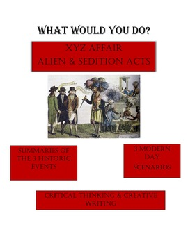 XYZ Affair and Alien & Sedition Acts - What Would You Do?