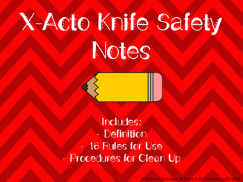 Xacto Knife Safety Notes