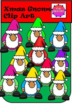 Xmas Gnomes Clip Art