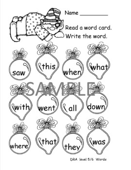 Xmas Sight Word Game