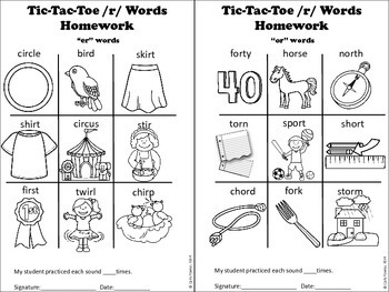 X's, O's and MORE! Articulation Picture Tic-Tac Toe