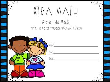 Xtra Math Kid of the Week Award