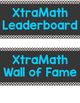 XtraMath Leaderboard or Wall of Fame