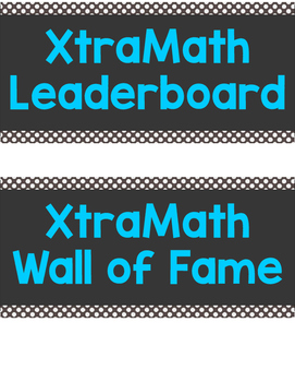 XtraMath Leaderboard or Wall of Fame: Chevron Edition