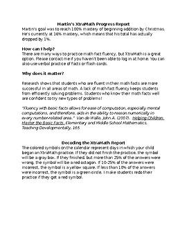 XtraMath Progress Report