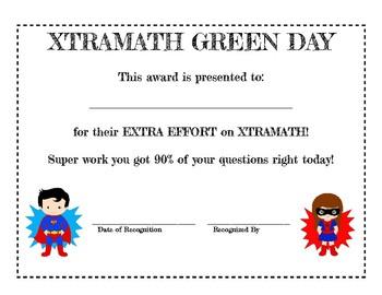 Xtramath Classroom Awards