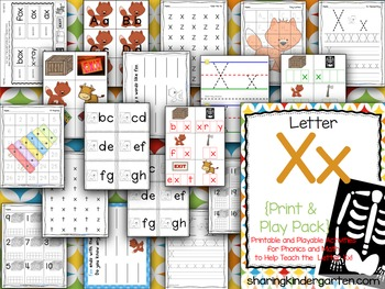 Letter Xx {Print & Play Pack}