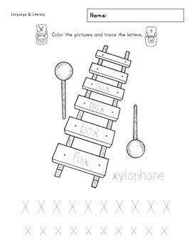 Xx Phonics & Printing Practice