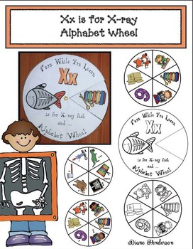 Xx is for X-ray Alphabet Wheel