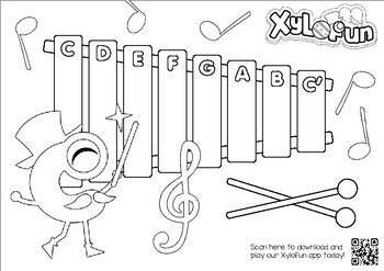 XyloFun: Kinder Music Coloring and Song Activity Pack