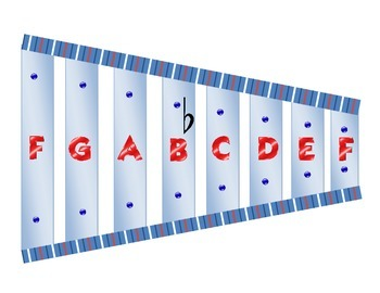 Xylophone Graphic One Octave in F