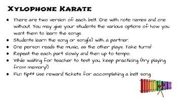 Xylophone Karate Workbook