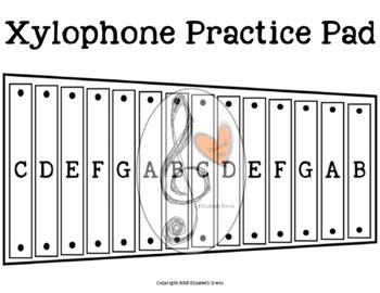 Xylophone Practice Pad