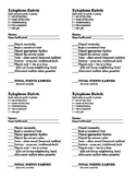Xylophone Rubric - 4 per page