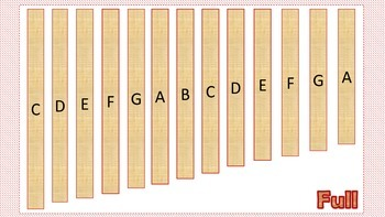 Xylophone Set-Up/Scale Printables
