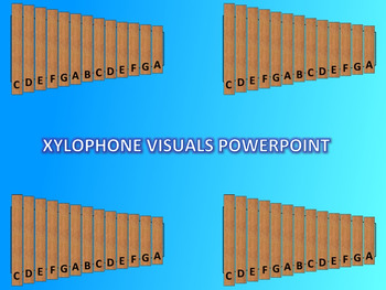 Xylophone Visuals for Elementary Music Teachers PowerPoint